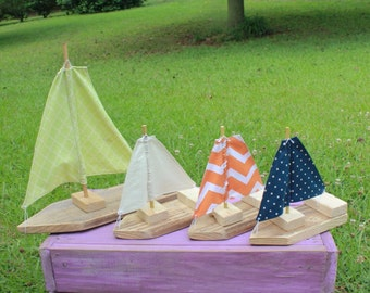 Mini Toy/Photography Prop Sailboats-Set of Three