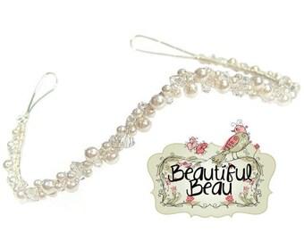 Pure Elegance Sweeping Bridal Wedding Headband, bridal hairband, wedding hairband, wedding hair accessory, bridal hair, bridesmaid headband