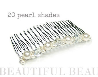 Bridal Hair Comb, Wedding Hair Comb, Pearl Back Hair Comb, Bridal Wedding Hair Accessory, Bridesmaid Hair Comb, Accessory - PAST TIMES (sm)