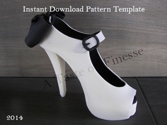 instant pattern template fondant high heel shoe cake