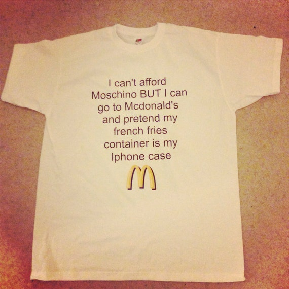 Moschino Mcdonald's T-shirt by ROUKEYS on Etsy