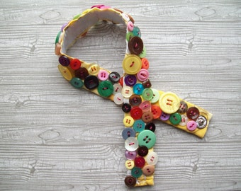 Handmade button bracelet