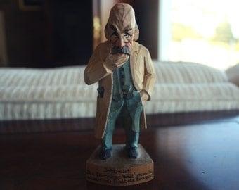 Vintage Carved Wooden Old Man Internest/Professor Figurine