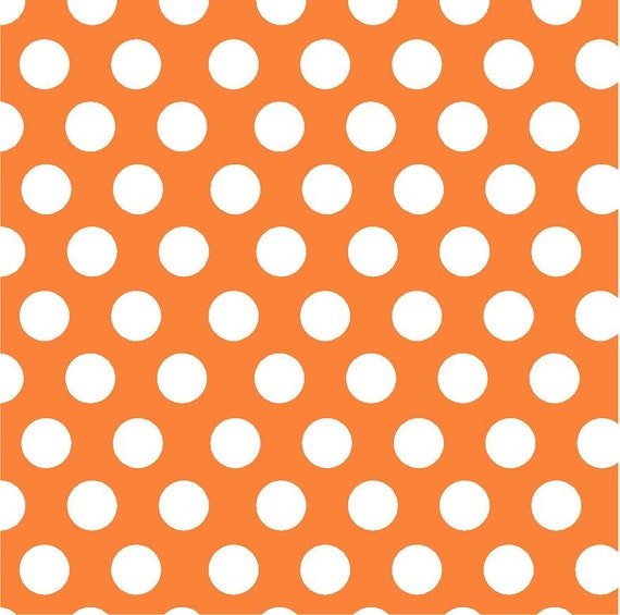 Orange With White Polka Dots Heat Transfer Or Adhesive Vinyl