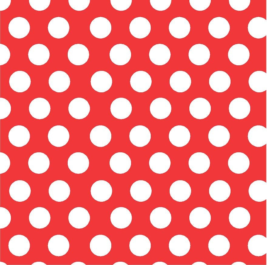 Red With White Polka Dots Heat Transfer Or Adhesive Vinyl