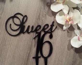 Sweet Sixteen 16 Cake Topper