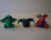 CHRISTMAS SALE Cute Monster Dragon Cthulhu Bat Goth Horror Gothic Handmade