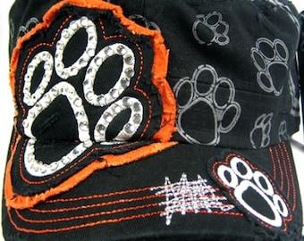 Black and Orange Paw Patch Cadet Hat