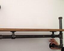 Vintage Industrial Single Wall Mounted Gas Pipe Shelf