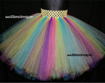 Rainbow Tutu, Unicorn Tutu Skirt, Pastel Tutu Skirt, Girls rainbow tutu, Pastel Rainbow Tutu, Easter Tutu, Birthday Tutu, Girls Unicorn Tutu