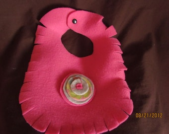 pink fleece bib