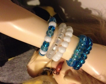 Blue & Purple bjd Seed Bead Bracelets sd msd Yo-sd Sized