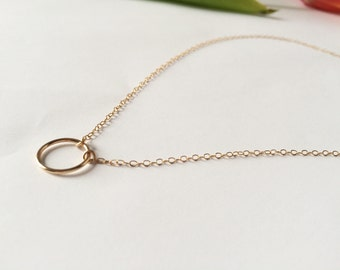 Nala • Circle of Life necklace // Gold filled circle necklace // 14K gold filled necklace