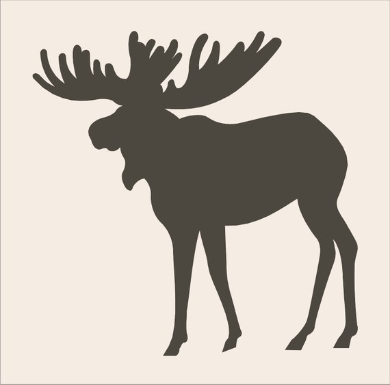 Crazy image with free printable deer stencils