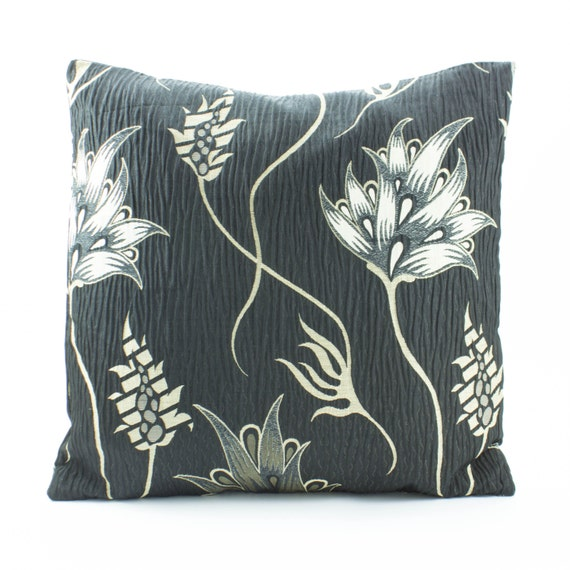 Items similar to Black Euro Sham throw Pillow Cover 26 x 26 inch sham ,Cotton Silk Pillow in ...