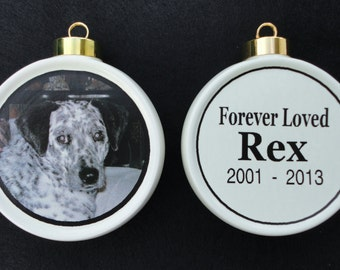 Pet Ornament *Personalized* Christmas, Holiday, Cat, Dog, Memorial, Firefighter, Baby