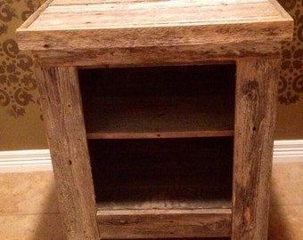 Barn Wood Nightstand Restoration Crown RestorationCrown Reclaimed Wood