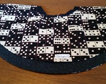 Baby Reversible Circle Skirt Size 18 Dominoes & Black Print