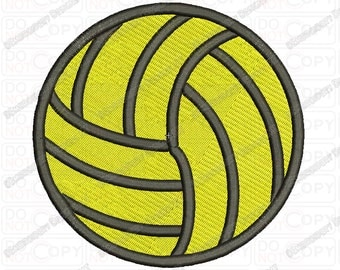 Volleyball Embroidery Design in 1x1 2x2 3x3 4x4 and 5x7 Sizes
