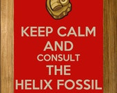 Keep Calm and Consult The Helix Fossil Poster Print - TwitchPlaysPokemon