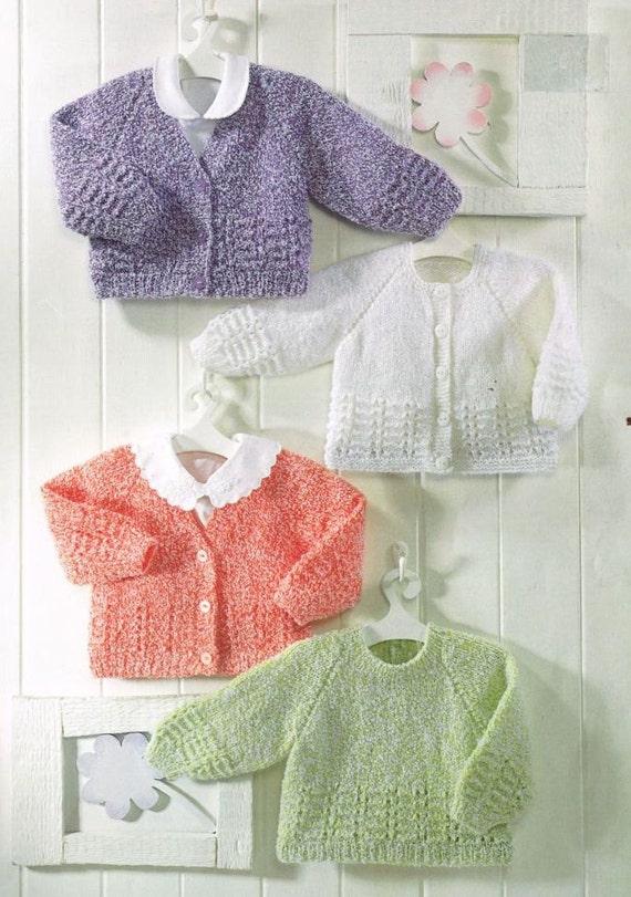 Knitting Vintage Things : Items similar to baby cardigan vintage knitting pattern