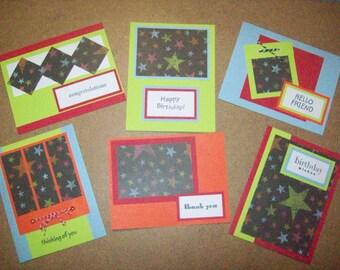 Set of 6 Homemade Cards