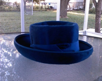 Vintage Michael Terre Southern California Blue Hat