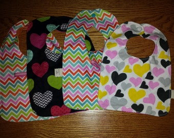Baby Bib with Nuk Hook and String. Pacifer Clip.  Flannel and PUL no more wet shirts. You will never lose a pacifier, always within reach