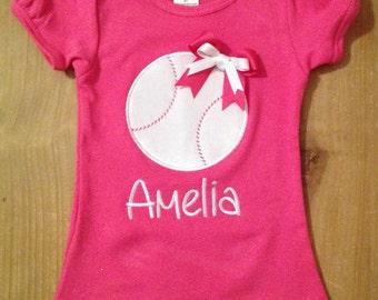 Girly Baseball Shirt or Baby Bodysuit