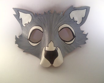 Leather Wolf Mask Template