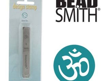 Om Metal Stamp, Beadsmith Design Stamp, 6 mm Steel Punch Bead Smith For Yoga Meditation Pendants