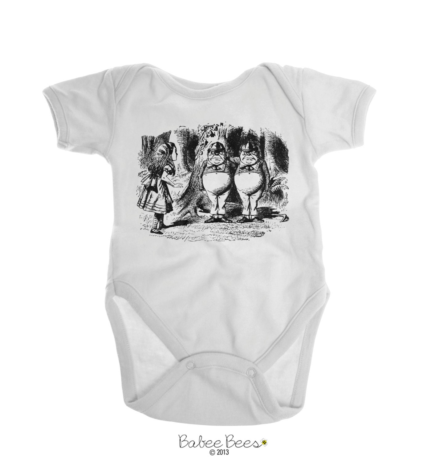 Alice in Wonderland Baby Clothes Tweedle Dee and by EmeeJoCo