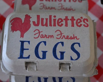 "Items similar to Vintage 1920s Egg Carton ""Strictly Fresh"" on Etsy"