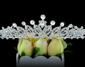 Exquisite Bridal Pageant Sparkling Tiara use Swarovski Crystal (491)
