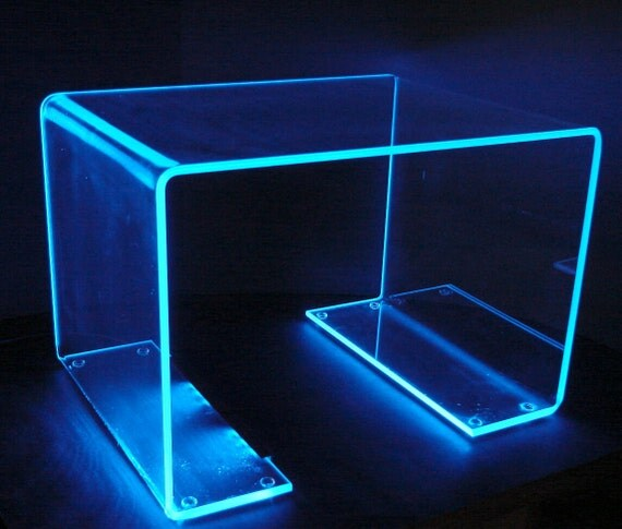 Acrylic Box Table : Items similar to led glowing display table quot