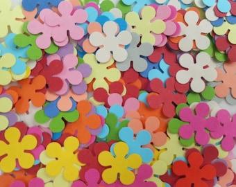 Confettis - 200 Flowers - Scrapbooking - Party confetti - Wedding confettis - Flower confettis - Multicolor confettis - Table confettis