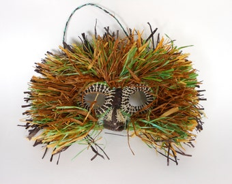 Woven Bird Mask Colorful