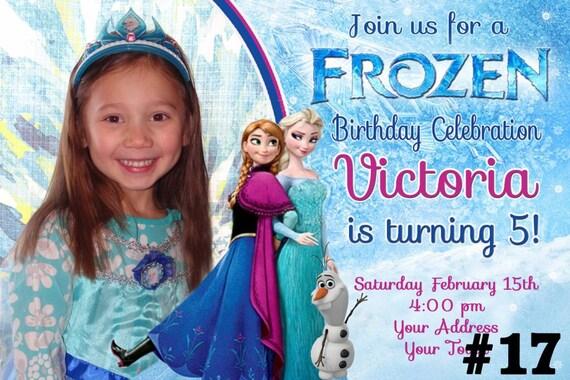 Disney Frozen Invitation with Photo / Birthday Party Invite You Print