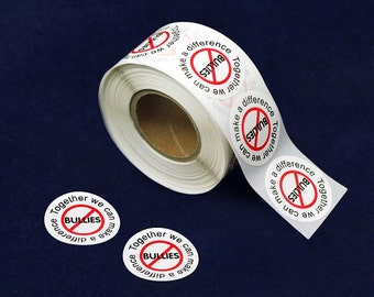 500 No Bullies Stickers - Make A Difference (DST-BU)