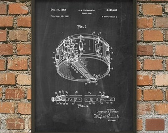 Snare Drum Patent Wall Art Poster