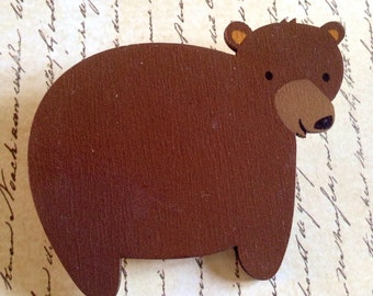 Mr. Brown Bear brooch