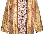Indian Vintage Kantha Silk Quilted Jacket Women Fashion designer Ethnic Coat