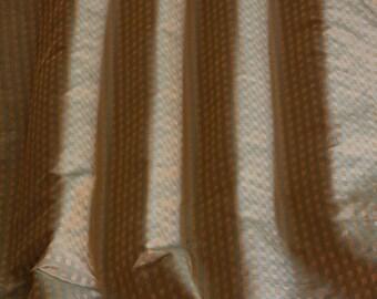 "Green & Gold Square Jacquard on Taffeta, 100% Silk Fabric, 54"" Wide, By the Yard (JD-515D)"