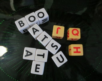 Vintage Letter Dice 13 dice Word dice