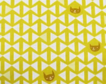 Catnap - Yellow -  Lizzy House - Andover Fabrics