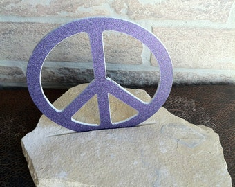 Peace Sign set in Flag Stone House decoration