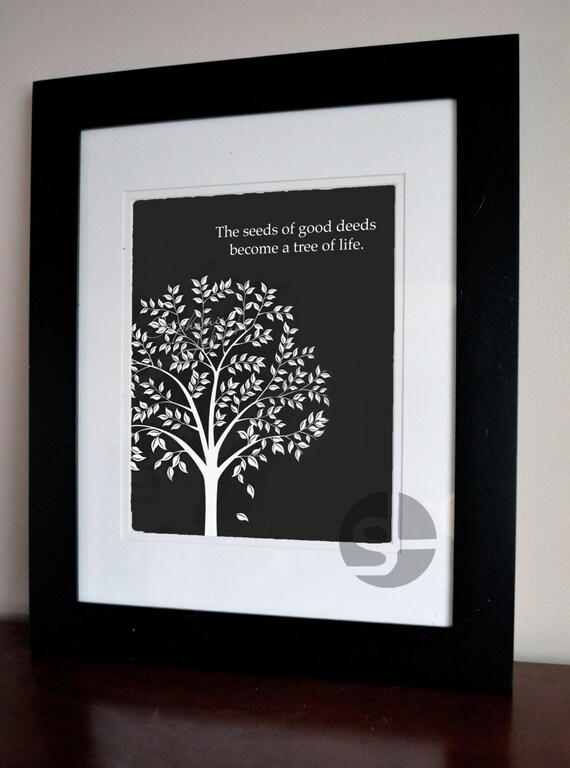 Items Similar To Printable Wall Art Decor, Tree Of Life Quote Poster On Etsy
