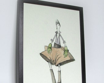 Baltazar - Watercolours and ink illustration