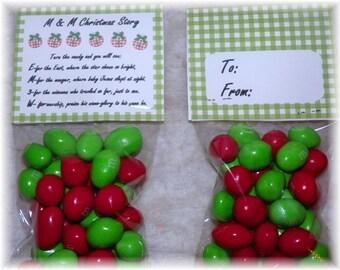 M & M Christmas Story  Printable Bag topper,party,favor (DIY)