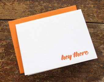 Hey There Letterpress Greeting Card